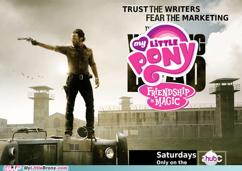 writers Bronies my little pony marketing The Walking Dead - 7587389696
