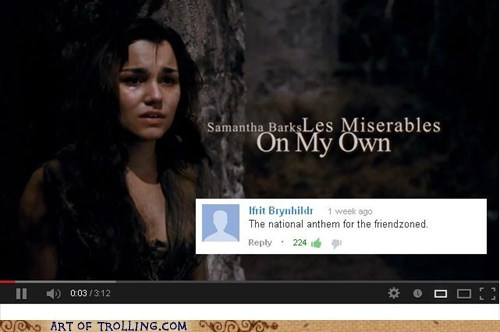 youtube comments,on my own,Les Misérables