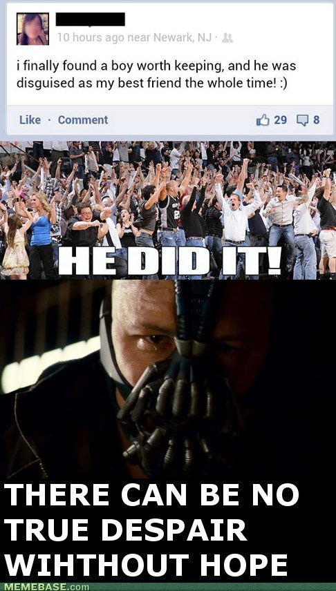 bane batman friend zone