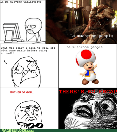 toad,mother of god,mushroom people,the last of us,zombie,video games,nintendo