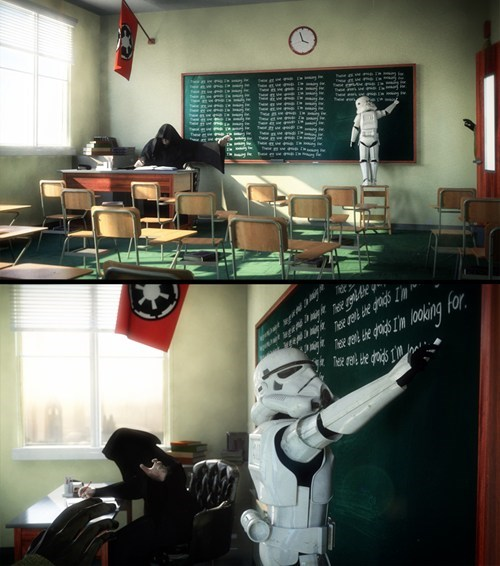 school,star wars,Fan Art