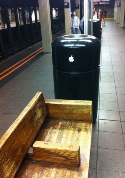trash cans Subway mac pro apple monday thru friday g rated