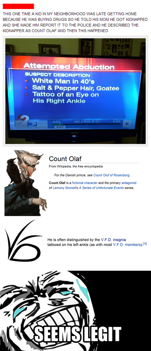 news count olaf news trolling lemony snicket kidnapping - 7589344512
