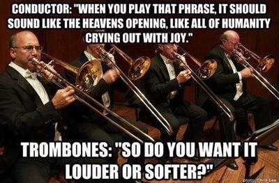 Music,conductor,trombones,funny,band,orchestra,g rated