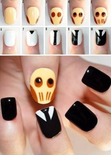doctor who DIY nail art - 7589457920