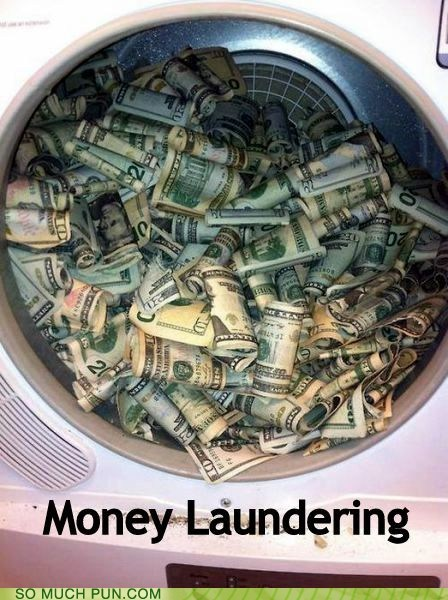 money laundering puns washer funny