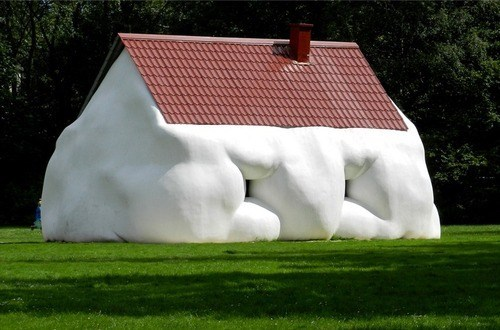 wtf sculpture houses funny - 7589556224