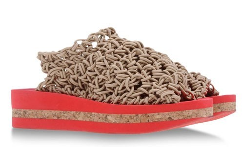 shoes noodles sandals funny
