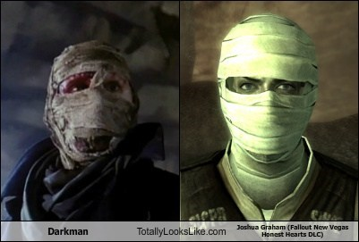 darkman,joshua graham,totally looks like,fallout new vegas,funny