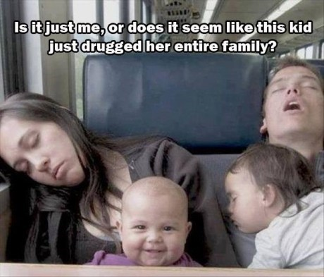 Babies,public transportation,plotting,sleeping,funny,g rated,parenting