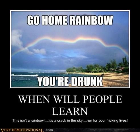 people sky drunk funny rainbow breaking - 7592012288