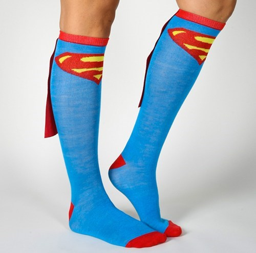 capes super heroes socks funny