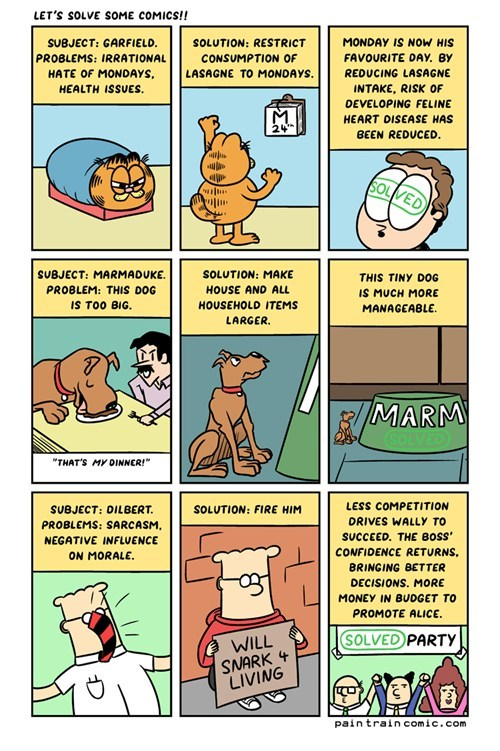 garfield,dilbert,Marmaduke,webcomics