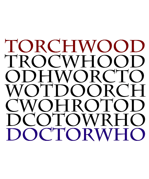 Torchwood,doctor who,anagrams