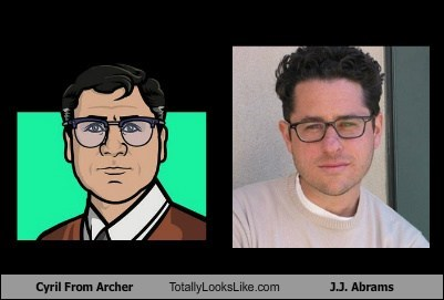JJ Abrams,totally looks like,archer,cyril,funny
