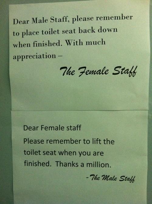 sign work funny men vs women toilet seat - 7592425728