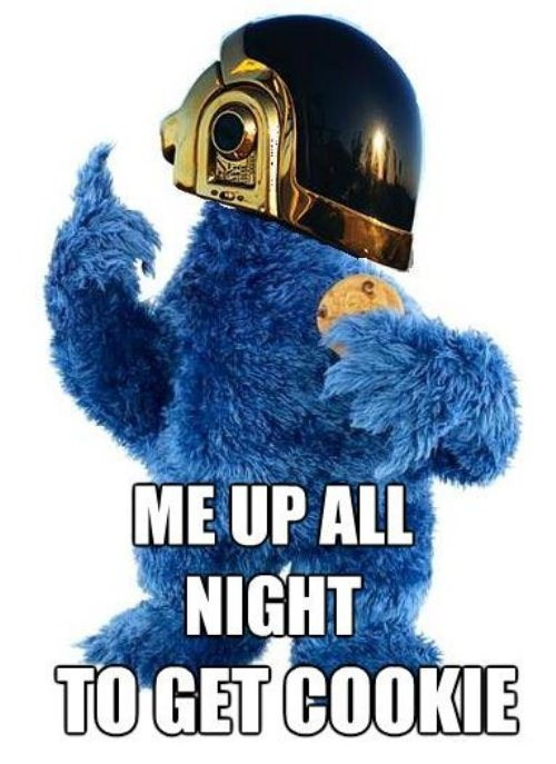 Music Cookie Monster get lucky daft punk funny - 7592427264