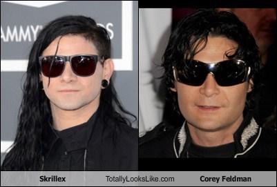 corey feldman,skrillex,totally looks like,funny