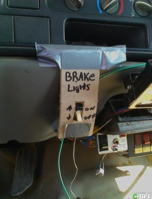 cars,broken,funny,brake lights