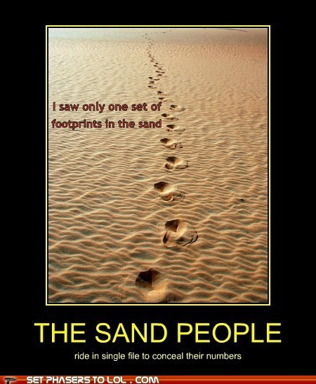 sand people,star wars,footprints