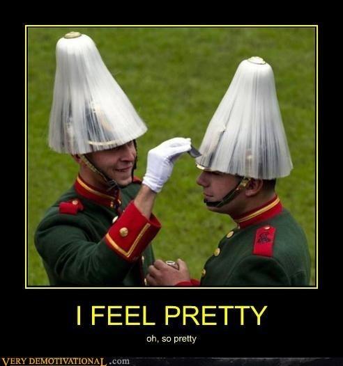 i feel pretty,wtf,soldiers,funny