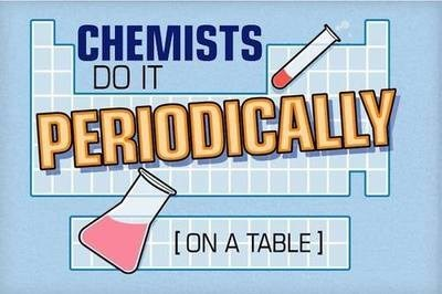 chemists,puns,periodic table,science,funny