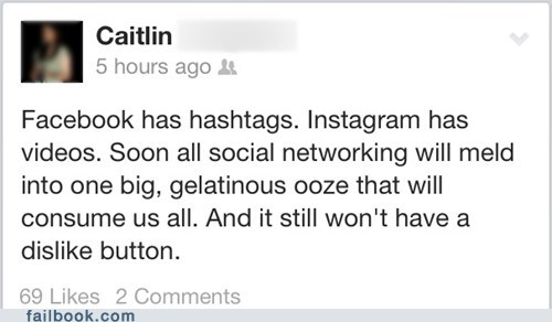 vine,instagram,hashtags,dislike button,failbook,g rated