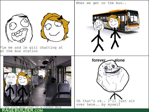 forever alone,girls,bus,dating