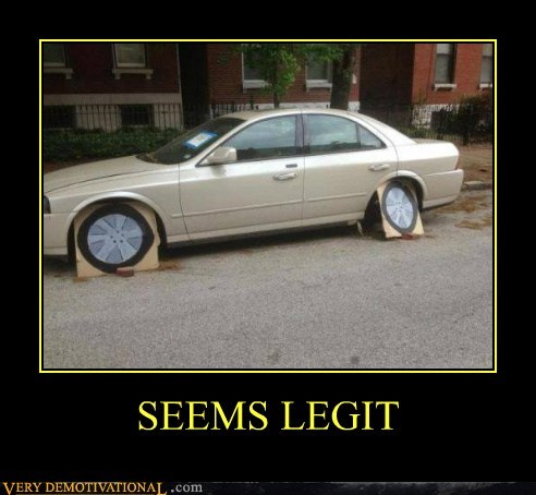 wheels cars funny seems legit - 7594490880
