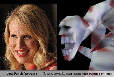 teeth lucy punch dead hand totally looks like ocarina of time funny - 7594737664