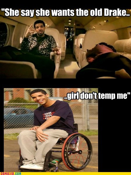 Drake,wheelchairs,sitting,funny