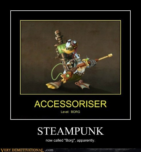 Steampunk accessories borg funny