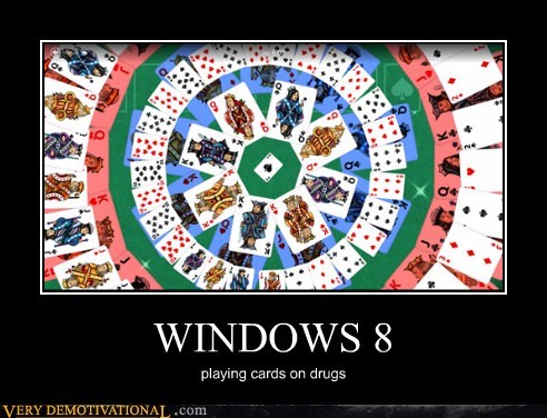 WINDOWS 8 playing cards on drugs