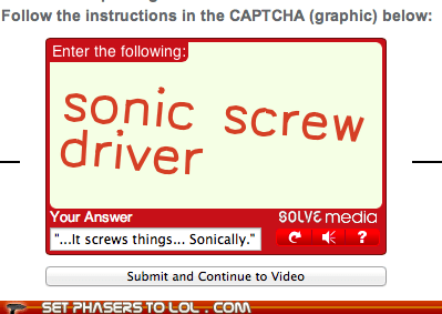 doctor who,captchas