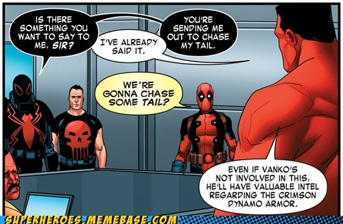 wtf deadpool chasing tail - 7596505344