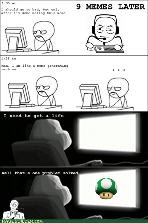 1up,making rage comics,mario