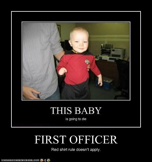 FIRST OFFICER Red shirt rule doesn't apply.