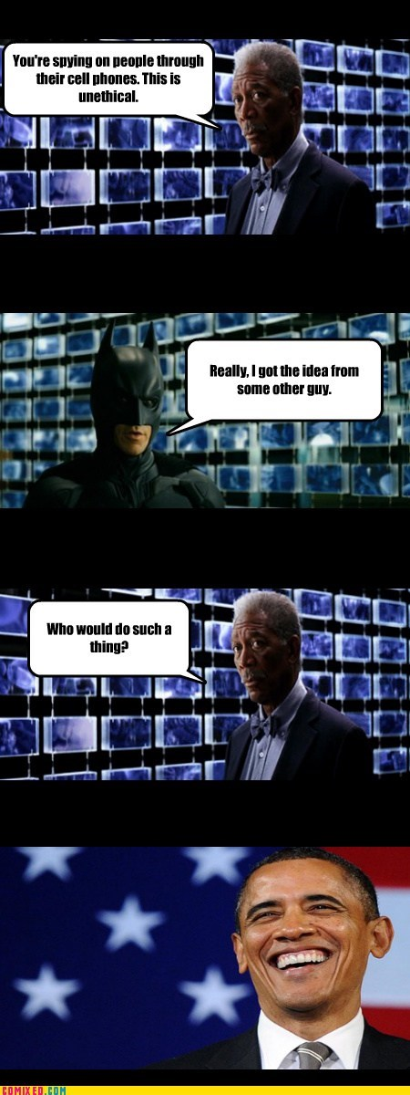 cellphones obama prism batman funny spies - 7598696960