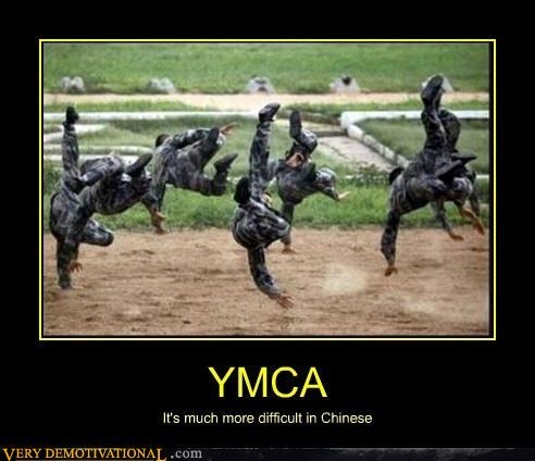 China,soldiers,funny,ymca