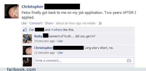 petco,jobs,work,denied,job application,failbook,g rated