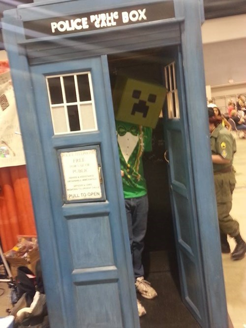 crossover,cosplay,creeper,taris,minecraft