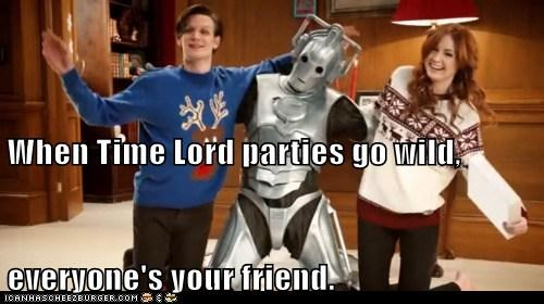 When Time Lord parties go wild, everyone's your friend.