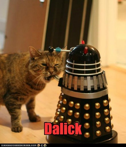 dalek lick doctor who funny - 7599633920