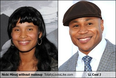 totally looks like,nicki minaj,make up,funny,ll cool j