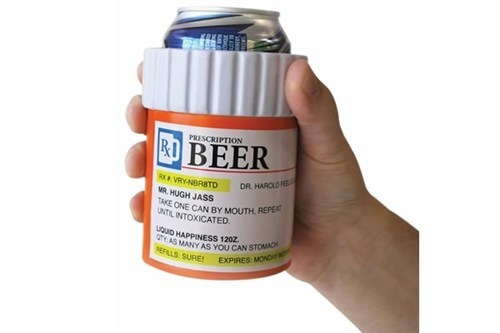 beer medicine koozies Grandpa funny - 7599734016