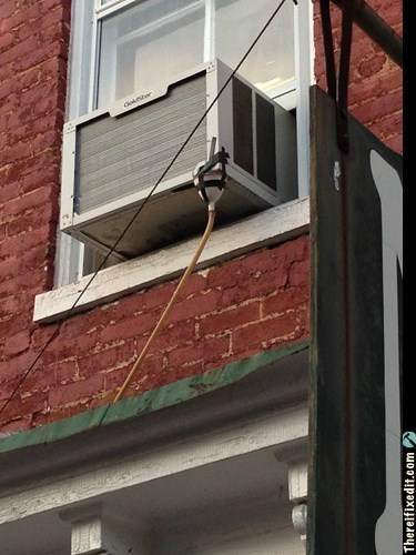 funny,air conditioners,look out below