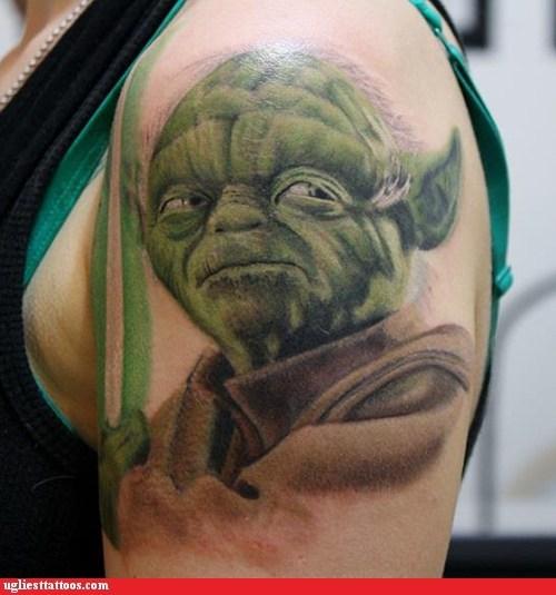star wars tattoos yoda funny - 7600787968
