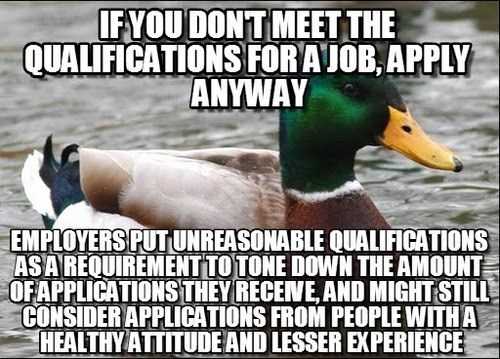 Actual Advice Mallard,resume,job application,monday through friday,g rated