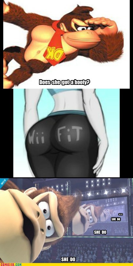 Wii fit,donkey kong,wii fit trainer,funny