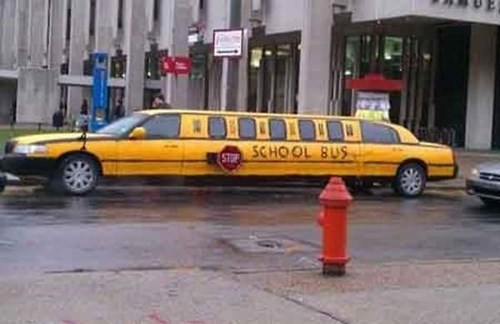 limo,fancy,school bus,funny